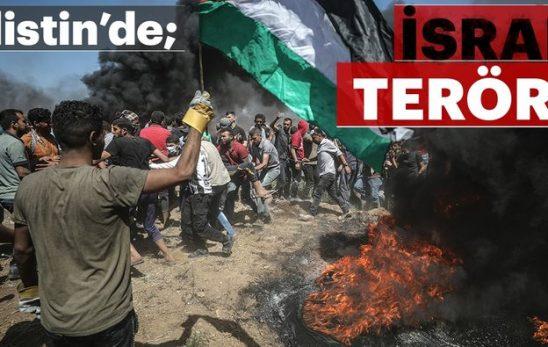 BÜYÜK BİR NEFRETLE İsrail'i kınıyoruz.