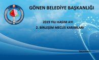 2019 YILI KASIM AYI 2. BİRLEŞİM MECLİS KARARLARI