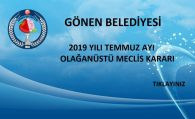 2019 YILI TEMMUZ AYI OLAĞANÜSTÜ MECLİS KARARI