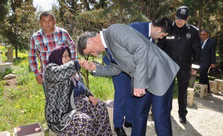 POLİS HAFTASI NEDENİYLE ŞEHİT POLİS MEHMET TELLİ'YE DUA EDİLDİ
