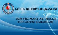 2019 MART AYI MECLİS KARARLARI