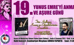 19. YUNUS EMREYİ ANMA VE AŞURE GÜNÜ
